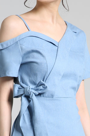 Short Sleeves Jeans Dress 2259
