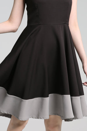 Colour Block Flare Dress 2274 - ample-couture