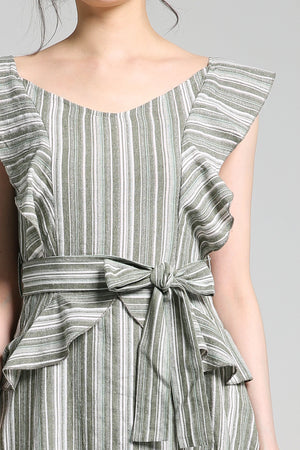 Stripe Print Playsuit 2278 - ample-couture