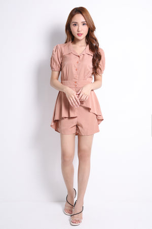 Front Button Top With Short Pants Set 9387