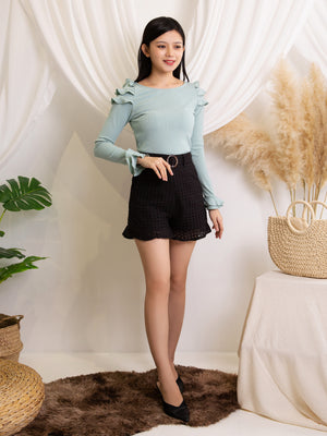 Layered Sleeve Top 11412