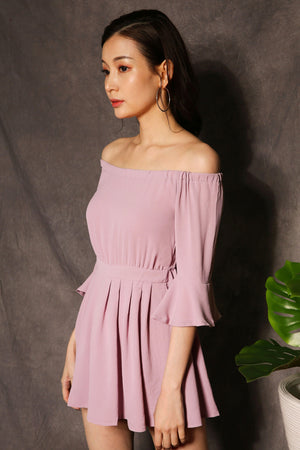 Off Shouldeer Ruffle Dress 2336 - ample-couture