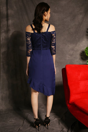 Short Sleeves Lace Dress 2343