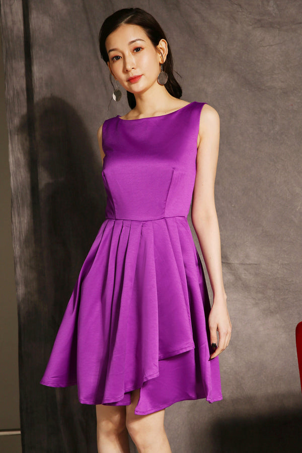 Pleated Skater Dress 2367 - ample-couture
