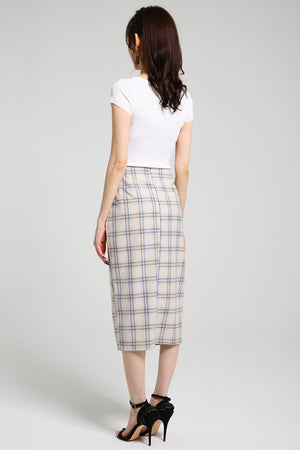 Checker Skirt 2387 - ample-couture