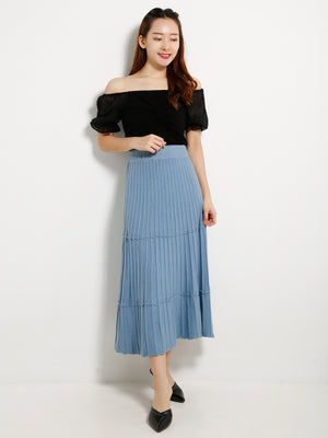 Knit Pleated Skirt 13293