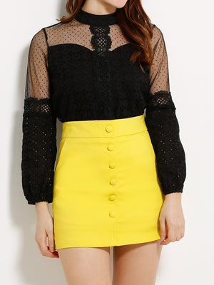 Front Button Skirt 13306