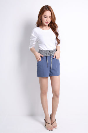 Waist Crossline Short Pants 9497