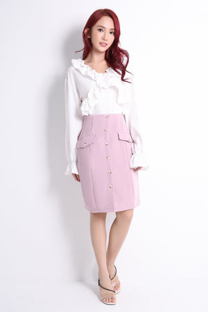 Front Button Skirt 10767