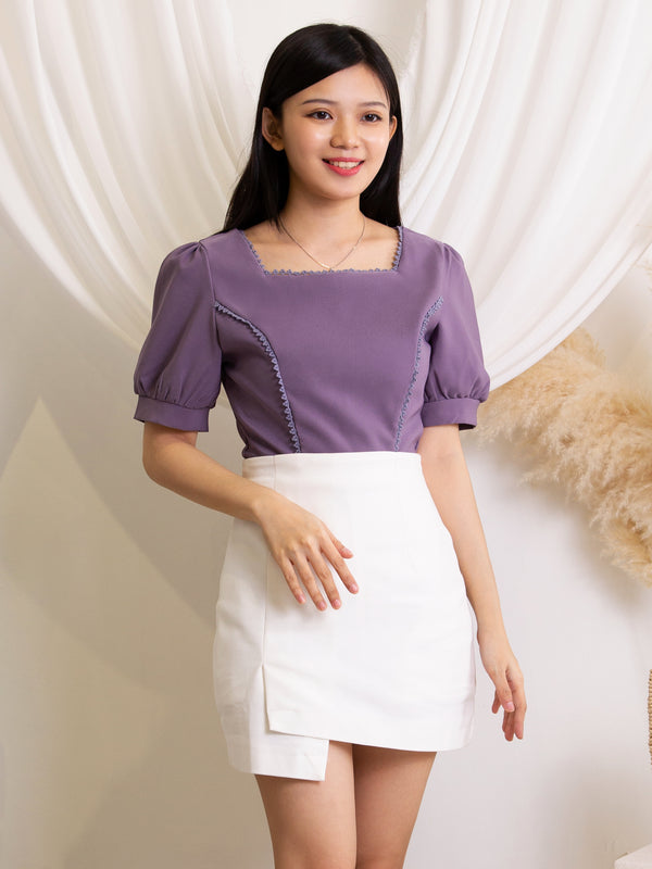 Rectangle Neck Top 11440