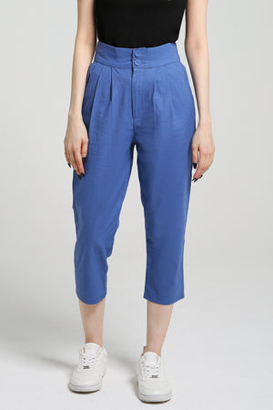 Plain Long Pants 2412 Light Blue / S Bottoms