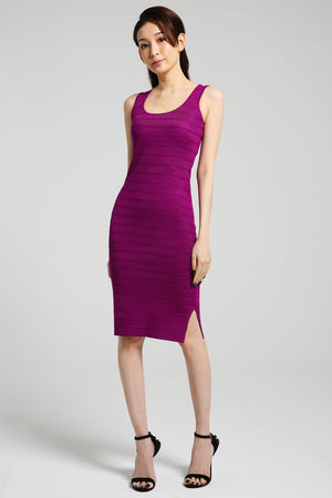 Knitted Pencil Dress 2428 - ample-couture