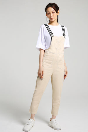Denim Suspender Pants 2453 - ample-couture