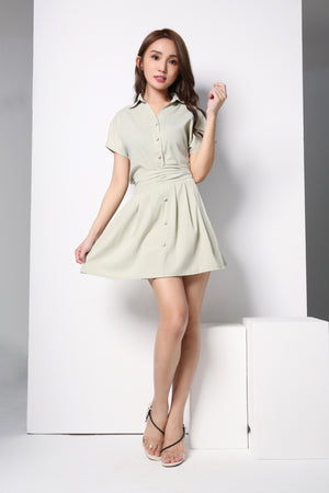Front Button Top With Skirt Set 8684