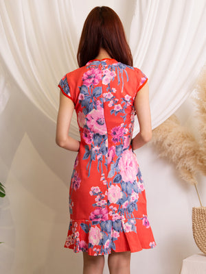 Flower Cheongsam Dress 11495