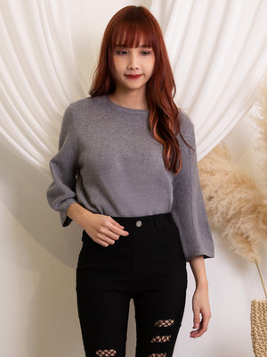 Crew Neck Knit Top 11482