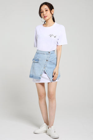 Oversize Tee with Skirt Set 2512
