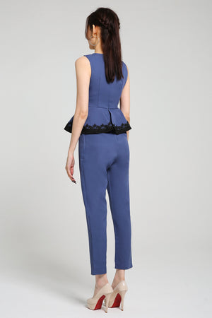 Peplum Long Jumpsuit 2564