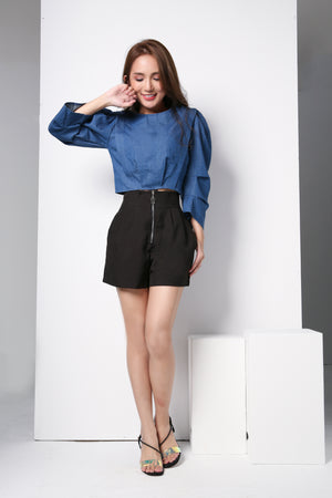 Long Sleeve Denim Top 8808