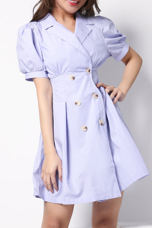 Front Button Shirt Dress 8852