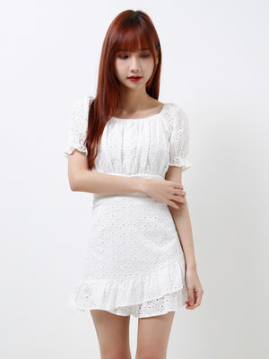 Crochet Top With Short Pants Set 12145