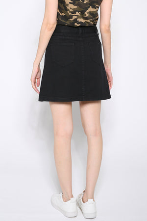 Button Skirt 2620 - ample-couture