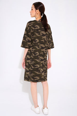 Mickey Camo Dress 2674 - ample-couture