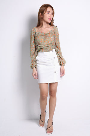 Double Button Skirt 10135