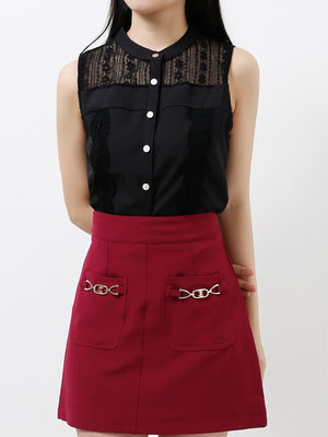 Front Pocket Skirt 12212