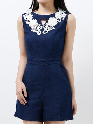Denim Playsuit 12268