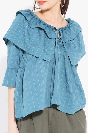 Stripes Blouse 2732 - ample-couture