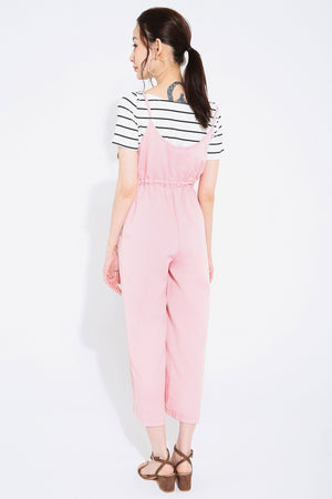 Stripes Top with Jumpsuit Set 2735 - ample-couture