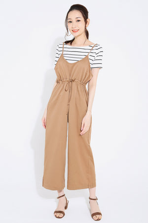 Stripes Top with Jumpsuit Set 2735