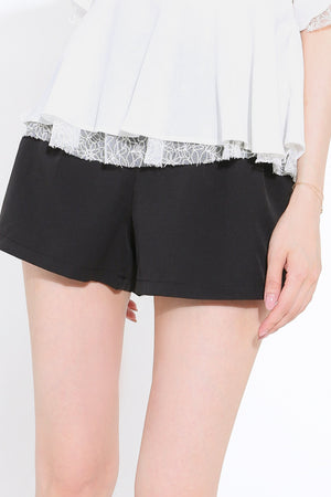 Plain Short Pants 2746 - ample-couture