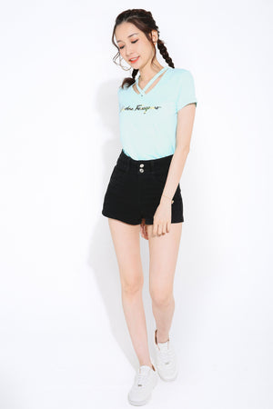 High Waist Short Pants 2796
