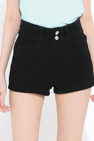 High Waist Short Pants 2796 - ample-couture