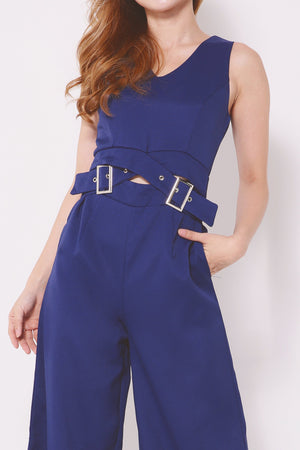 Buckled Belted Jumpsuit 4292 - ample-couture