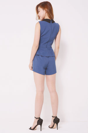 Asymmetrical Layered Romper 4290 - ample-couture