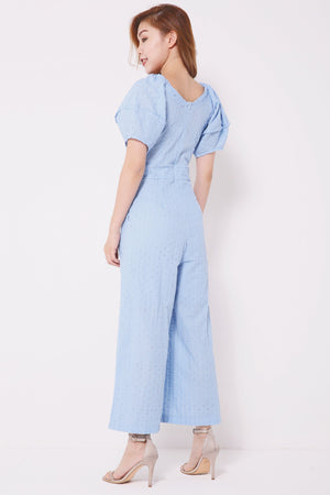 Puffy Eyelet Jumpsuit 4348 - ample-couture