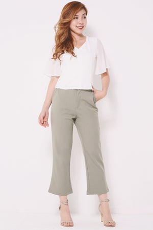 Basic Wide Leg Pants 4372 - ample-couture