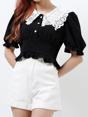 Peter Pan Collar Top 12198