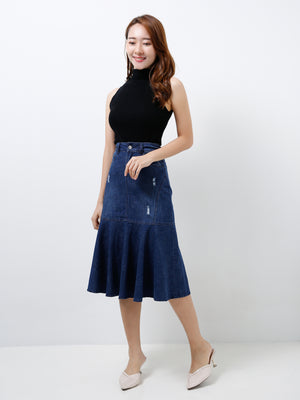 Denim Long Skirt 11986