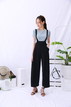 Button Suspender Pants 2826 - ample-couture