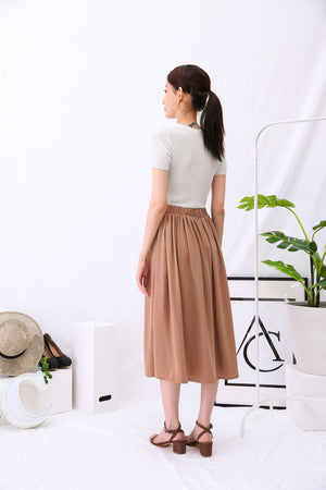 Plain Midi Pants 2887 - ample-couture