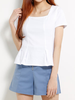 Plain Square Neck Top 13332