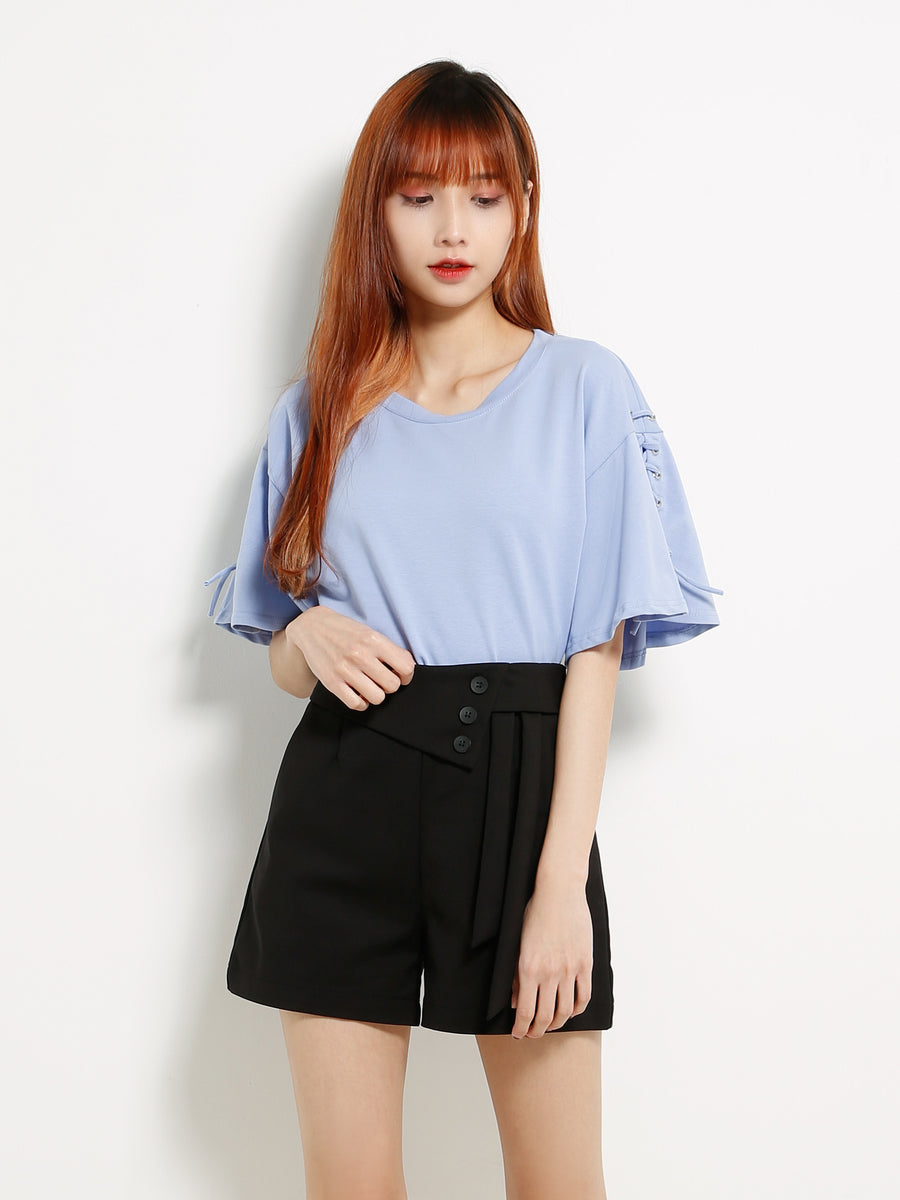 Side Tie Up Short Pants 13346