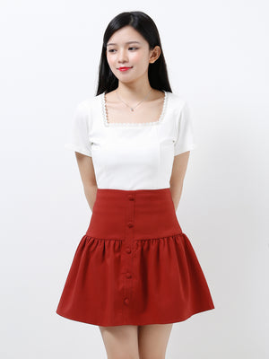 Front Button Skirt 12068