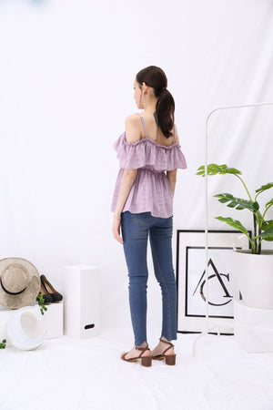 Open Shoulder Crochet Blouse 2920