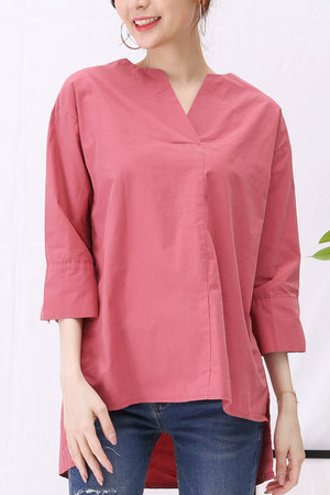 V-Neck Blouse 2924 - ample-couture