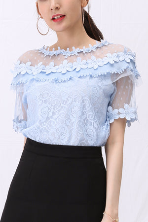 Lace Blouse 2944 - ample-couture